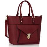 L&S Fashion (Anglie) Kabelka LS00181A červená (burgundy)