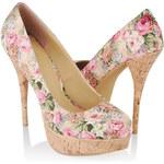 FOREVER21 Floral Stiletto Pumps