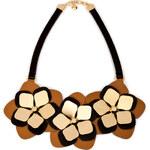Fendi Leather Flower Necklace