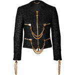 Moschino Boucle Jacket with Chainlink Trim