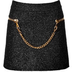 Moschino Boucle Skirt with Chainlink Trim