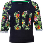 Terranova Sweatshirt with flowers and numbers