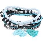 Sada náramků v modro-černé barvě Pieces Jynas
