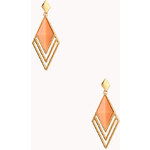 Forever 21 Cutout Angular Drop Earrings