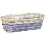 Artium Proutěný truhlík oválný, fialovo-bílý - PRB673208