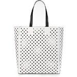 ELISE RYAN Prostorná bílá taška s perforací