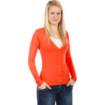 TopMode Úžasný svetřík na knoflíky oranžová