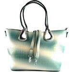 Zelená lesklá kabelka na rameno Lea Bellasi