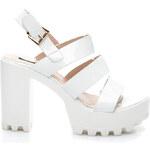 SERGIO TODZI Efektní bílé lesklé sandály - RMD1272WH / S2-4P