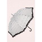 So Rainy 50s Pretty raindots out of the sky! umbrella white and black polkadot
