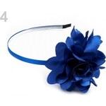 Stoklasa Kovová čelenka s květem Ø5 cm modrá královská