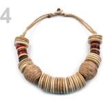 Stoklasa Dřevěný náhrdelník etno hnědá srnčí
