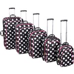 Dunlop Print 5 Piece Suitcase Set