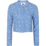 Topshop **Round Collar Cropped Shirt by The Whitepepper