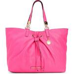 Růžová kožená kabelka Juicy Couture robertson