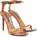 Ralph Lauren Collection Metallic Leather Sandals