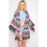 PRETTYLITTLETHING Stylové kimono v zig zag provedení