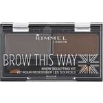 Rimmel Brow This Way paleta pro líčení obočí 2,4 g