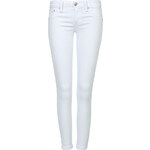 Tally Weijl White Low Rise Cropped Skinny Trousers