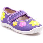 CNB Květinové fialové dětské baleríny - D4PU / R1D