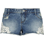 Tally Weijl Blue Denim Shorts with Lace Trim