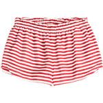 RED Valentino Striped Silk Shorts