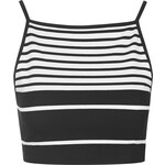 Topshop Engineered Stripe Crop Top