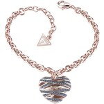 Guess Wrapped with Love Medium Heart Rose Gold-Plated Bracelet