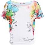Desigual Home Bílé volnější tričko na spaní s květinovým potiskem Desigual Jungle