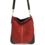 Červená kožená crossbody kabelka ItalY 10062 červená