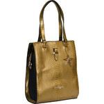 Makgio dámská kabelka v kombinaci zlaté a černé barvy se zlatými detaily