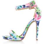 Modré květované sandály XTI 29739 EUR37