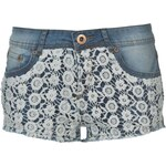 Rock and Rags Lace Hotpant Ld52 Blue Denim S