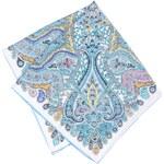 Modrý vzorovaný šátek Fraas