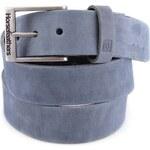 Modrošedý pánský kožený pásek Horsefeathers Duke
