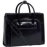 McKlein Lake Forest - černá kožená kabelka na notebook