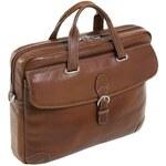 McKlein Siamod Borella - stylová hnědá taška na notebook