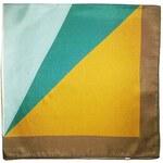 Barevný hedvábný šátek s kubistickým motivem, A Piece of Chic