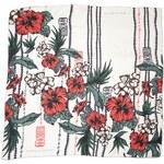Světlý hedvábný šátek s květinovým vzorem, A Piece of Chic