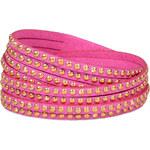 Troli Náramek Wrap Metal 4x Pink