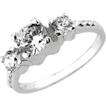 Silvego Zirkonový zásnubní prsten Via ze stříbra JJJR0801 56 mm