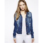 7 For All Mankind Classic Denim Jacket With Patches - Blue