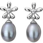 Hot Diamonds Náušnice Diamonds & Pearls Flower Drop DE298