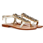 Dsquared2 Jeweled Leather Sandals