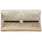 Diane von Furstenberg Embossed Leather Envelope Clutch