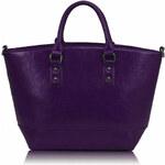 Fialová žíhaná kabelka LS fashion LS0085A fialová