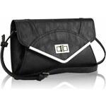 LS Fashion Černé psaníčko LSE00174 černá