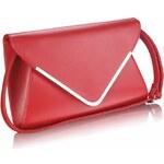 LS Fashion Červené elegantní psaníčko LSE00166A červená