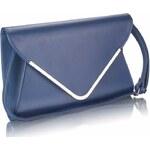 LS Fashion Tmavě-modré elegantní psaníčko LSE00166A modrá