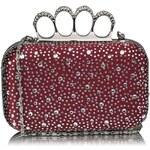 LS Fashion Luxusní bordó kamínkové psaníčko s boxerem LSE00119 vínová
